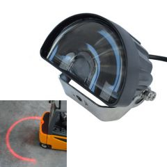 Vörös körív munkavédelmi lámpa - 10-80 V, 20 W, 1000 lm