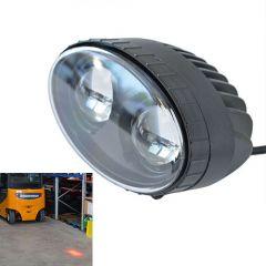 Vörös pont munkavédelmi lámpa - 10-48 V, 10 W, 500 lm, 2 db LED