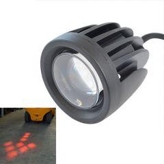 Vörös nyíl munkavédelmi lámpa - 10-48 V, 18 W