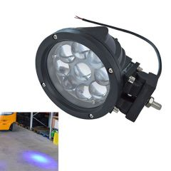 Kék pont munkavédelmi lámpa, nagy fényerejű - 10-48 V, 45 W, 2.900 lm, 9 db LED