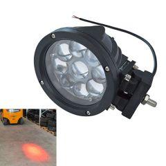 Vörös pont munkavédelmi lámpa, nagy fényerejű - 10-48 V, 45 W, 2.900 lm, 9 db LED