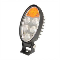 Álló ovális LED munkalámpa irányjelzővel - 10-80 V, 36 W, 2880 lm