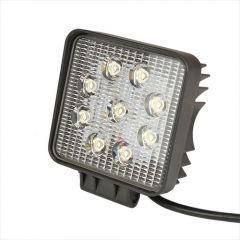 Négyzet LED munkalámpa - 10-80 V, 27 W, 2050 lm